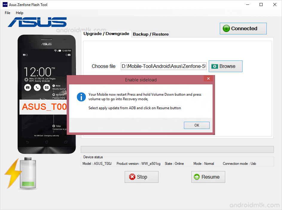 asus zenphone flash tool adb