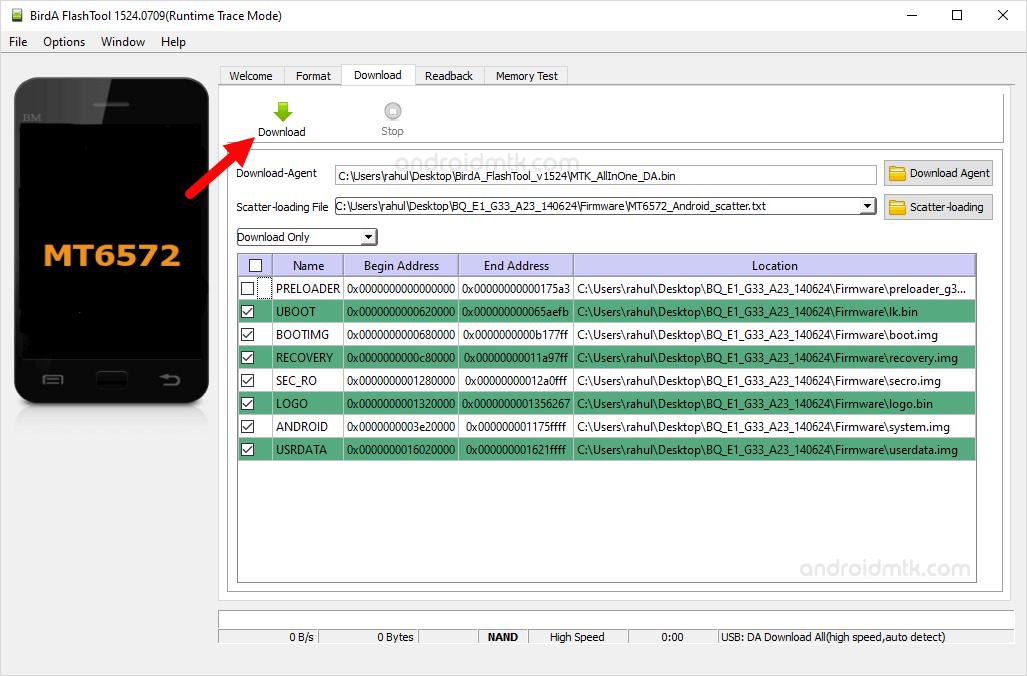 BirdA Flash Tool Download