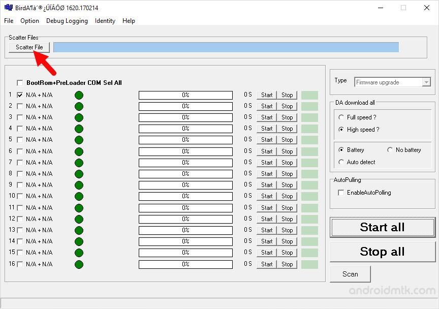 BirdA MDT Tool Scatter File