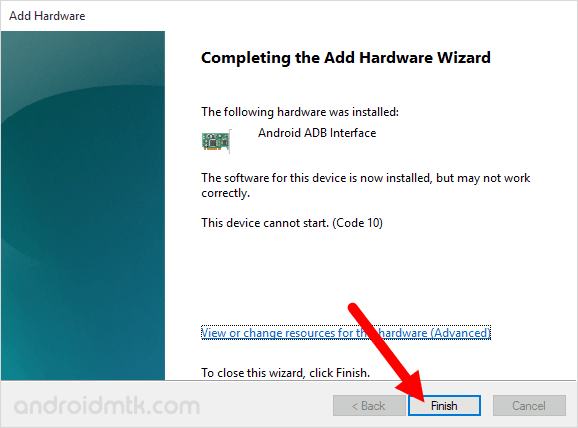 device manager adb driver complete