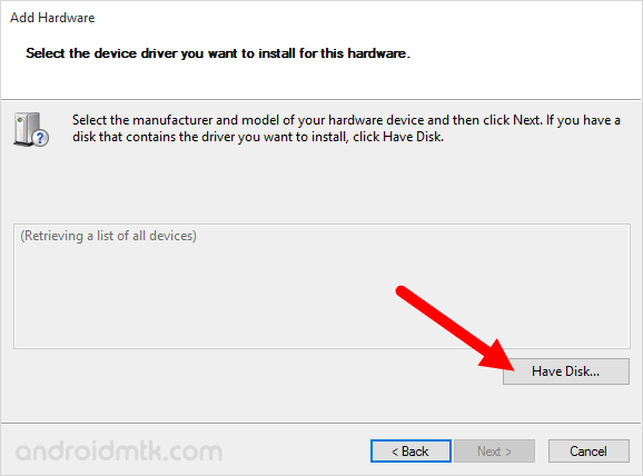 device manager have disk