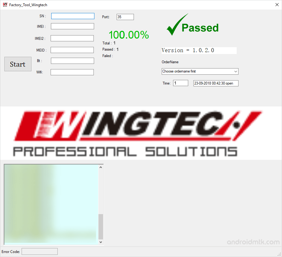 factory tool wingtech passed