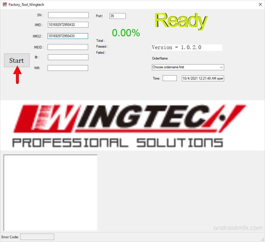 factory tool wingtech start
