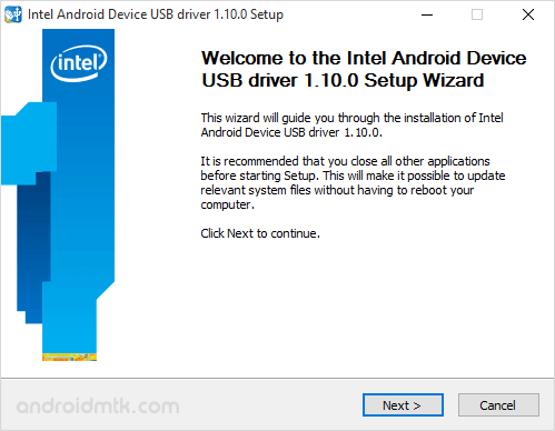 Download Intel Android USB Driver (all versions)