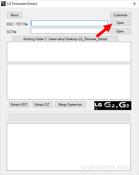 LG Firmware Extract Tool Load KDZ