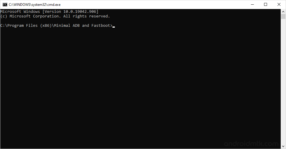 minimal adb command window