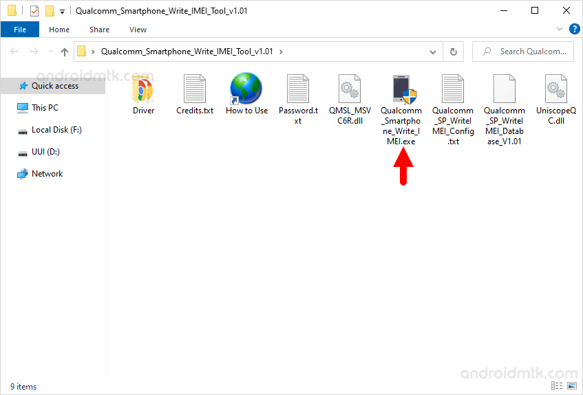 open uniscope qualcomm write imei tool