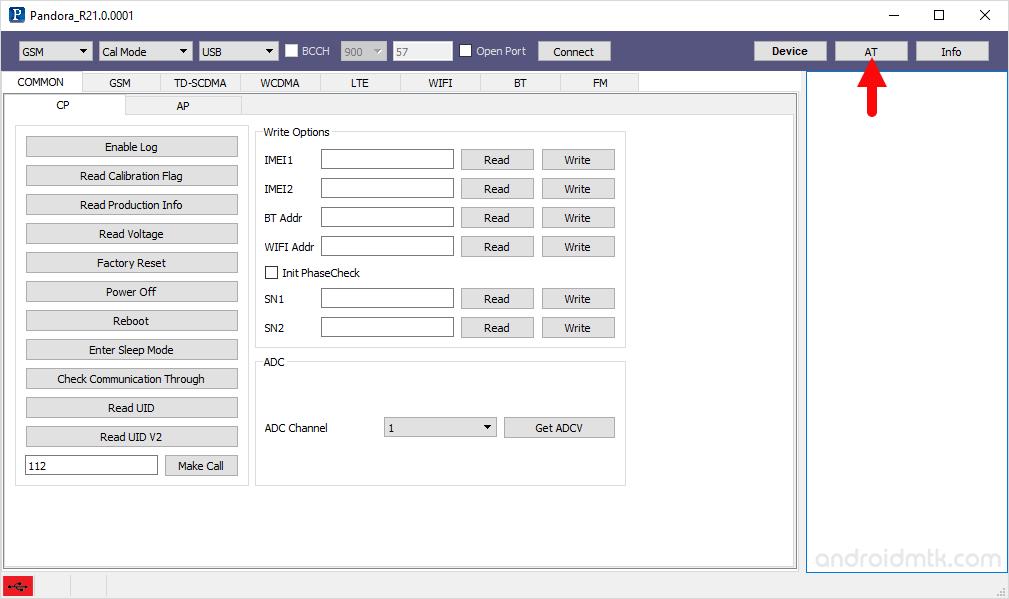 pandora tool at dialog