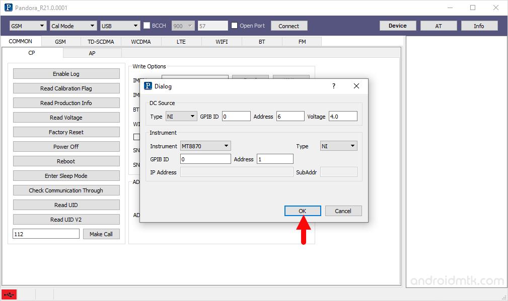pandora tool configure done