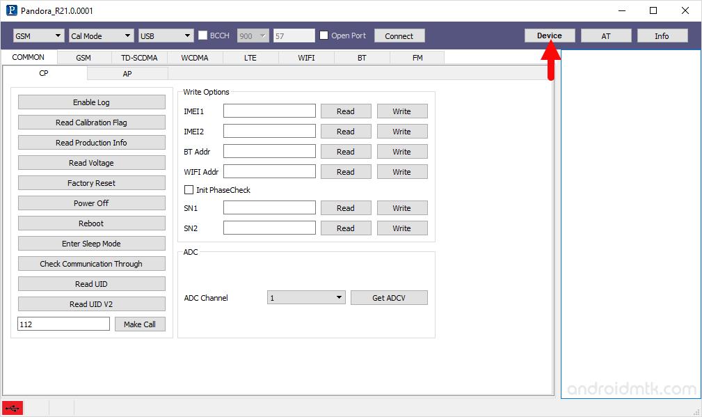 pandora tool configure