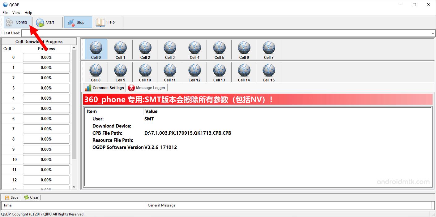 QGDP Tool Config